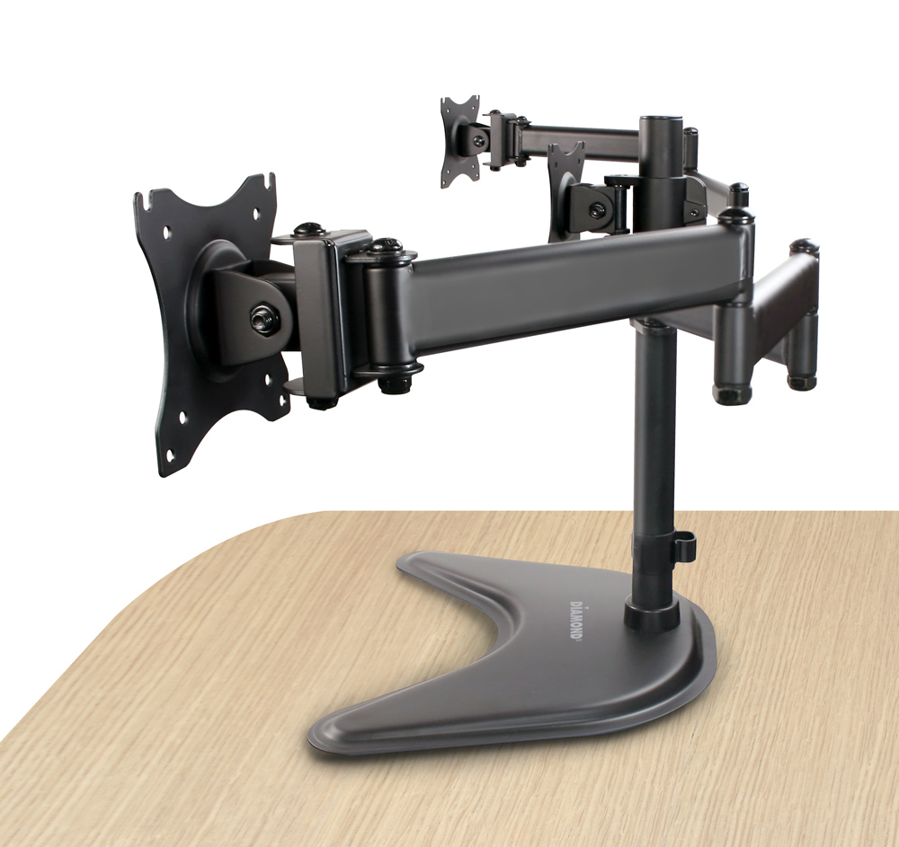 Articulating Triple Arm Display Table Top Mount