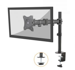 DMCA120_Front_w_Screen2_Med-1-300x281 Articulating Desk Mounts - Elite Series