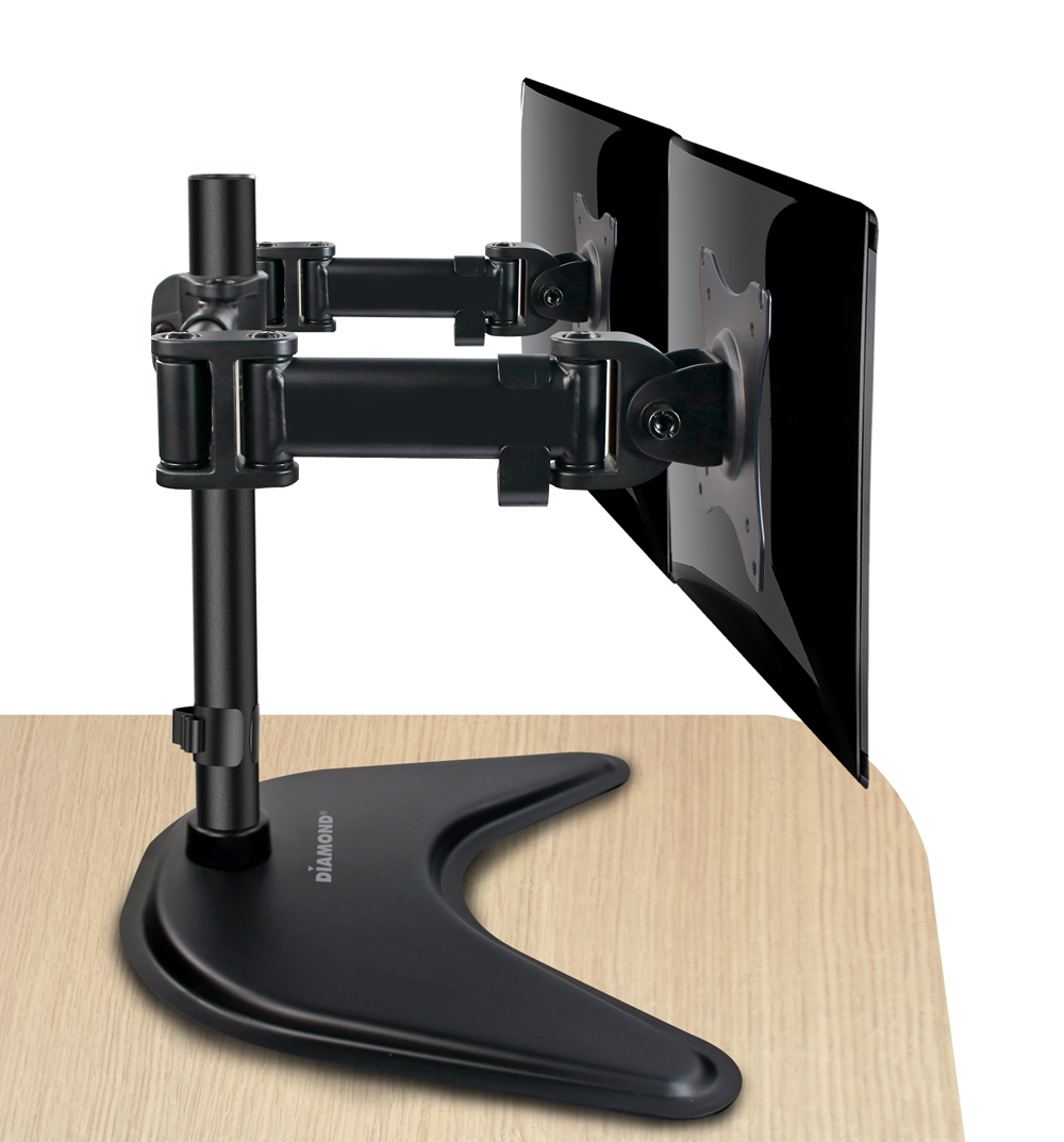 Articulating Dual Arm Monitor Mount